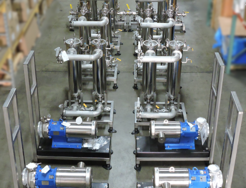 Filter skid with Stainless housings & Mag Drive Pumps