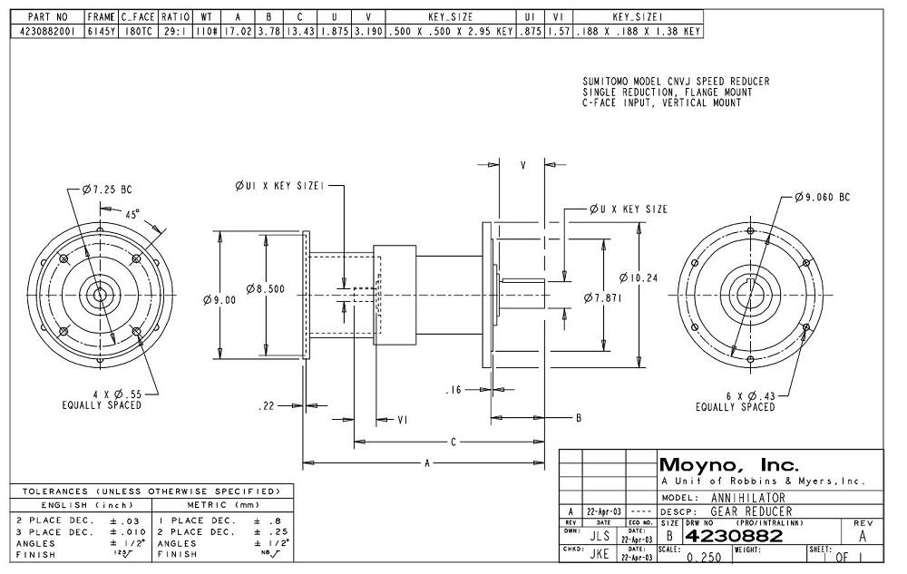 moyno gear reducer